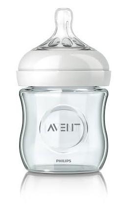 פיליפס אוונט משיקה בקבוק נטורל מזכוכית מחוסמת בדרגת ניקיון רפואית Philips Avent