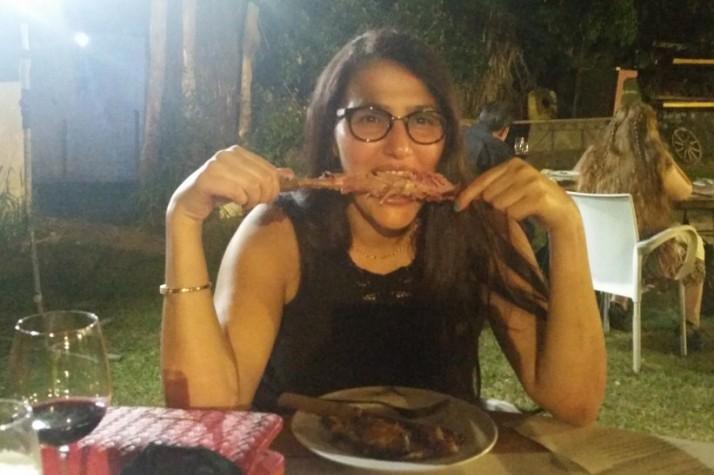 ארוחת קרניבורים עם המעשנה