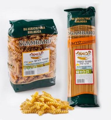 """""""תבואות"""" מציעה סדרת מוצרי פסטה אורגנית מדגנים מלאים - כוסמין ודורום"""