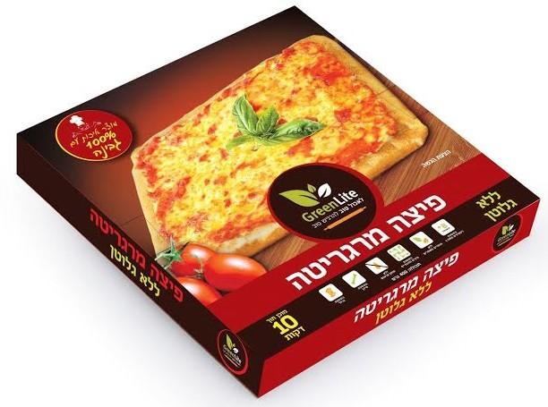 """חברת """"גרין לייט"""" משיקה: פיצה מרגריטה ללא גלוטן"""