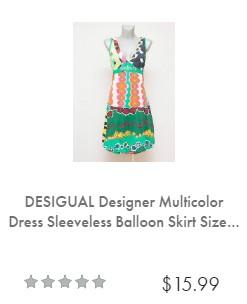 שמלה דזיגוואל מבצע איביי ebay sale desigual