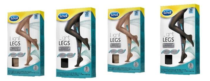 שול Scholl משיק את גרביונים LIGHT LEGS TM לתחושת קלילות ברגליים ומראה מחוטב