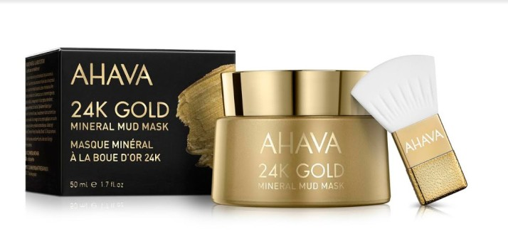 חדש מ- AHAVA מסכת זהב 24K ובוץ מינרלי 24K Gold Mineral Mud Mask