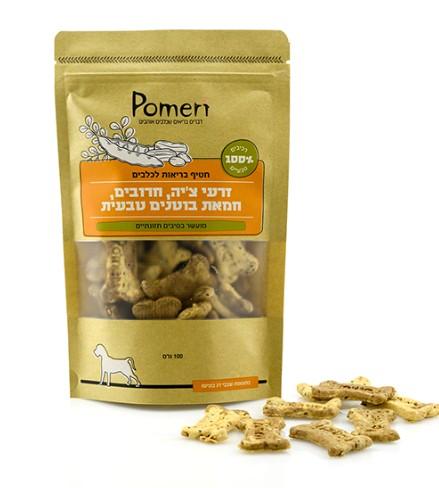 חטיף זרעי צ'יה, חרובים, חמאת בוטנים טבעית Pomeri
