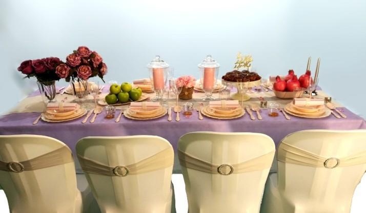 חברת פעמית סטור משיקהלכבוד ראש השנה כיסוי בד מעוצב לכיסא