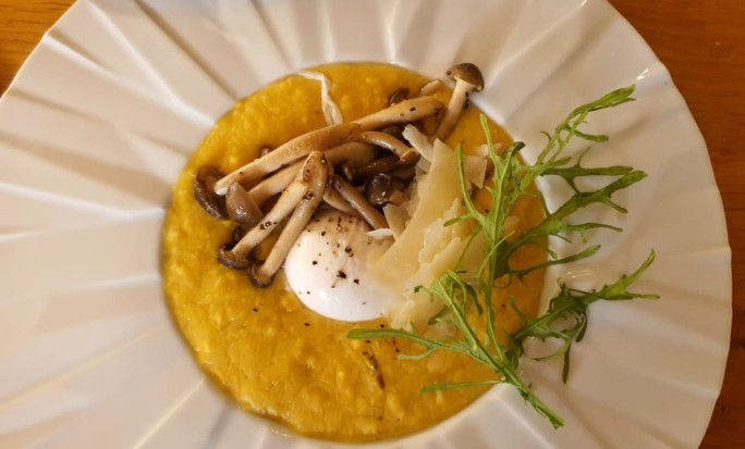 פולנטה מסעדת טיביס של שף חיים טיבי בחוות ורד הגליל