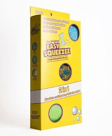 מוצר חדש ומהפכני מבית AIDOR INTERNATIONAL כרית ניקוי הכלים Squeezee Eeasy