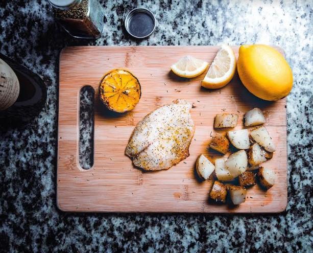פילה אמנון בתנור, בתיבול תערובת לתיבול פלפל לימון