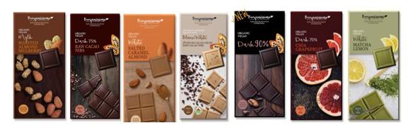 שוקולד אורגני טבעוני משובח בשילוב מזונות על בנג'מיסימו
